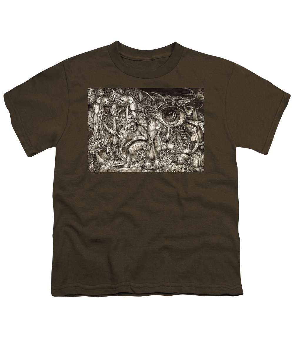Surreal Youth T-Shirt featuring the drawing Tripping Through Bogomils Mind by Otto Rapp