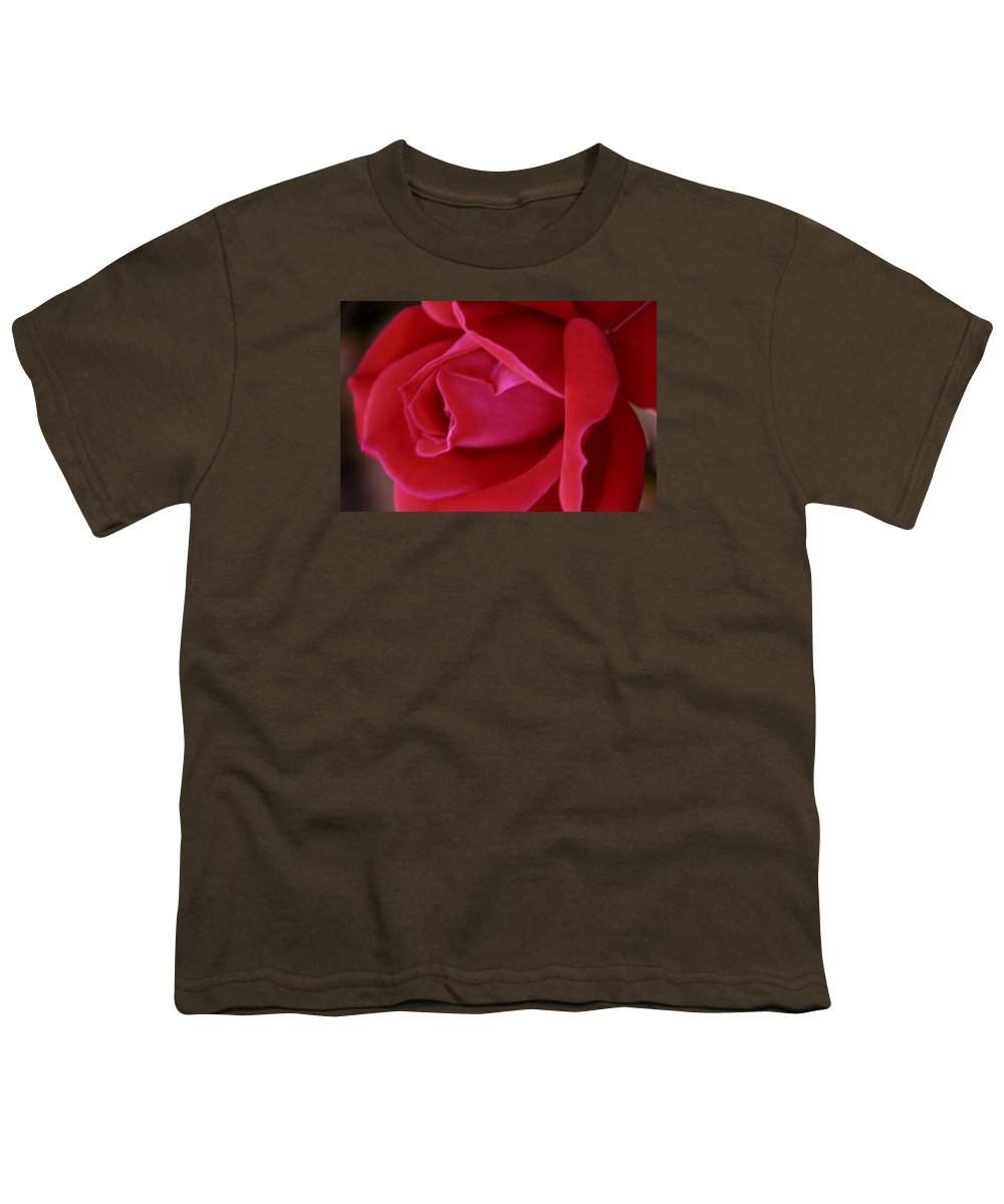 Rose Youth T-Shirt featuring the photograph Unfolding Glory by Mary Beglau Wykes