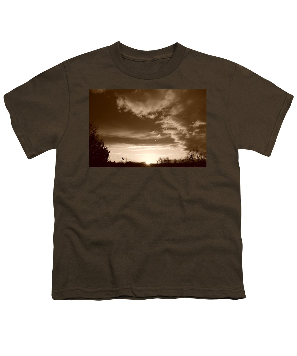 Sunset Youth T-Shirt featuring the photograph Sunset And Clouds by Rob Hans
