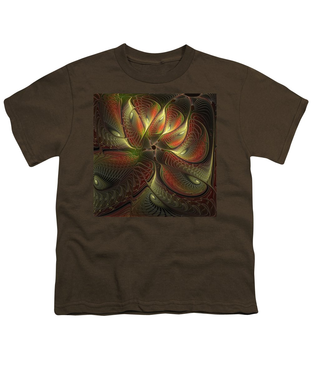 Digital Art Youth T-Shirt featuring the digital art Watchful by Amanda Moore