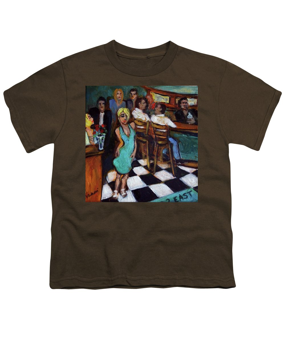 Restaurant Youth T-Shirt featuring the painting 32 East by Valerie Vescovi