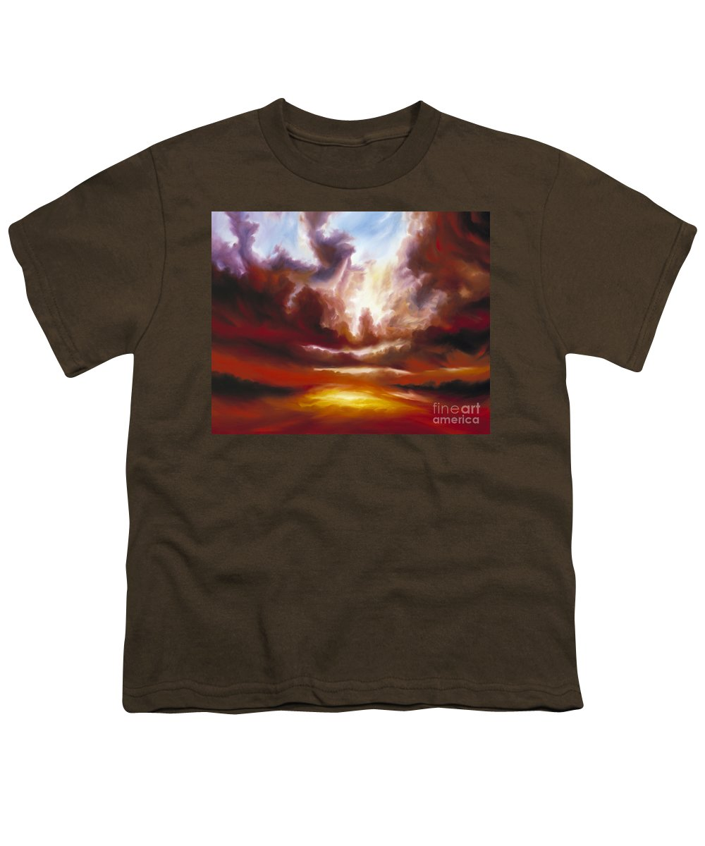 Tempest Youth T-Shirt featuring the painting A Cosmic Storm - Genesis V by James Christopher Hill