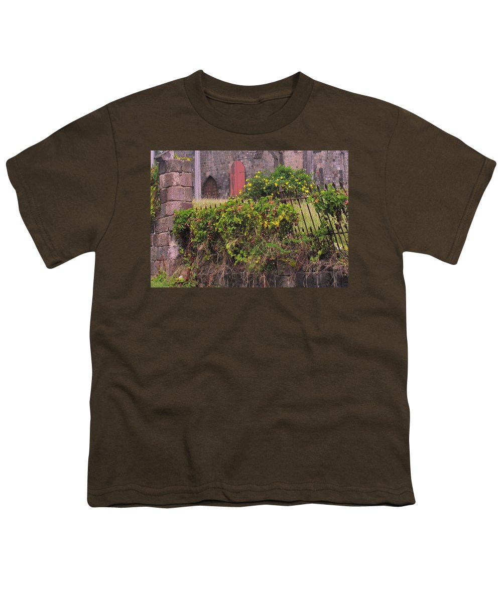Anglican Youth T-Shirt featuring the photograph Abandoned Churchyard by Ian MacDonald