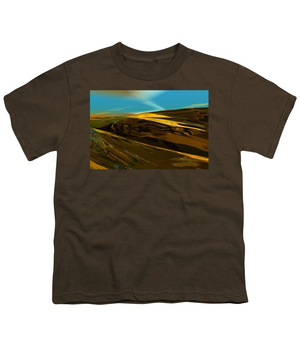 Landscape Youth T-Shirt featuring the digital art Alien Landscape 2-28-09 by David Lane