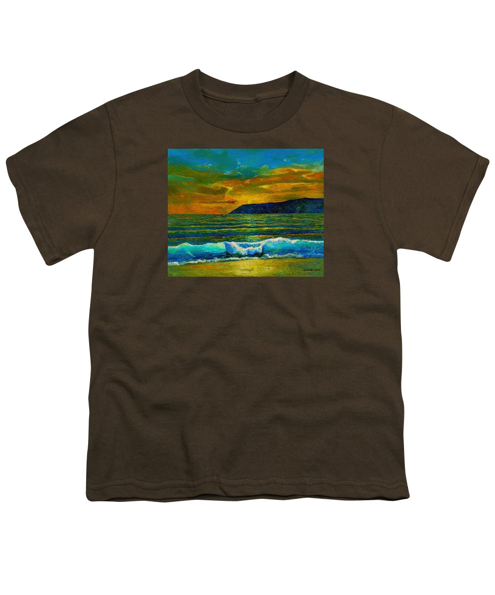 Seascape Youth T-Shirt featuring the painting Along The African Coast by Michael Durst