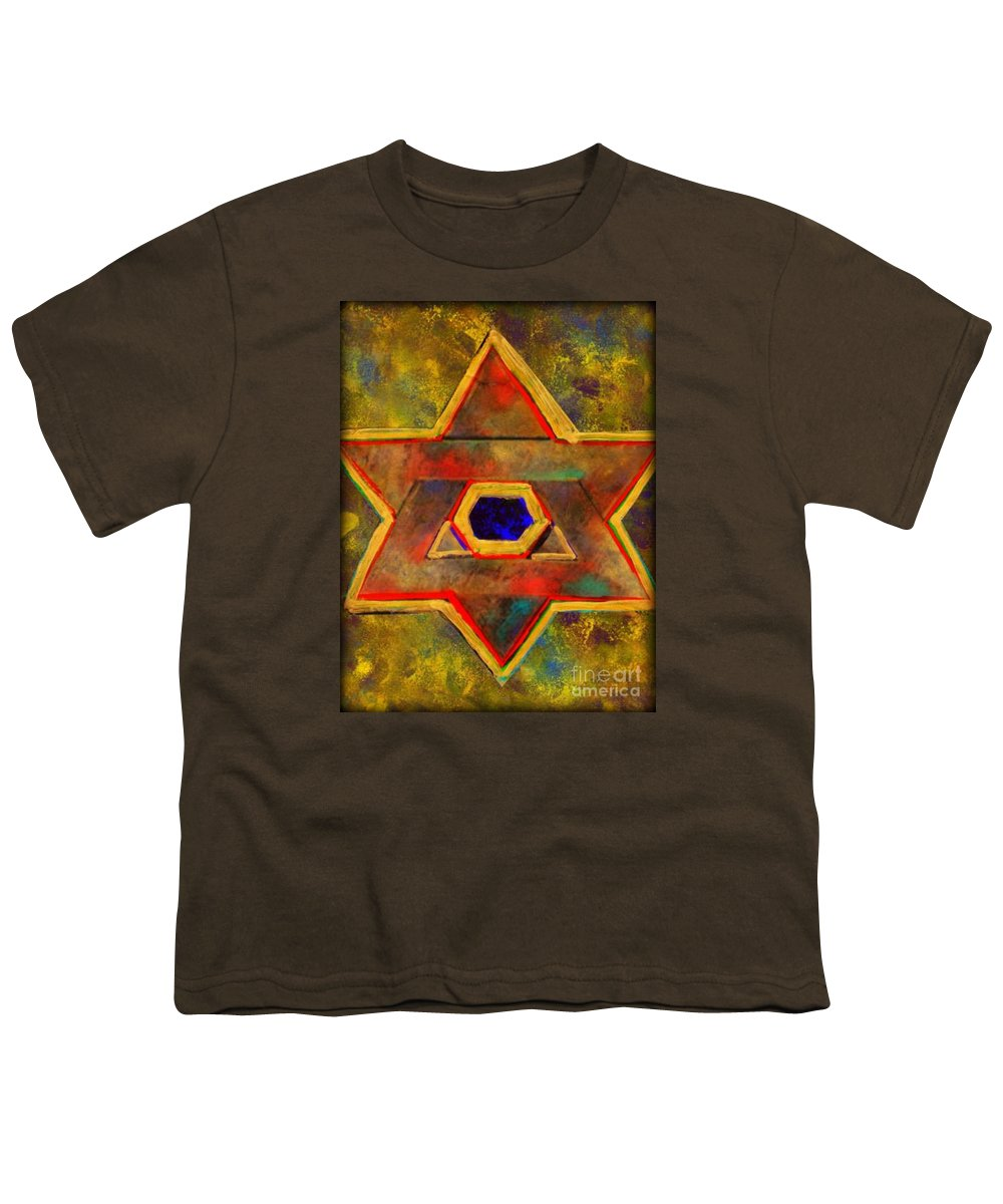 Ancient Star Youth T-Shirt featuring the painting Ancient Star by Wbk