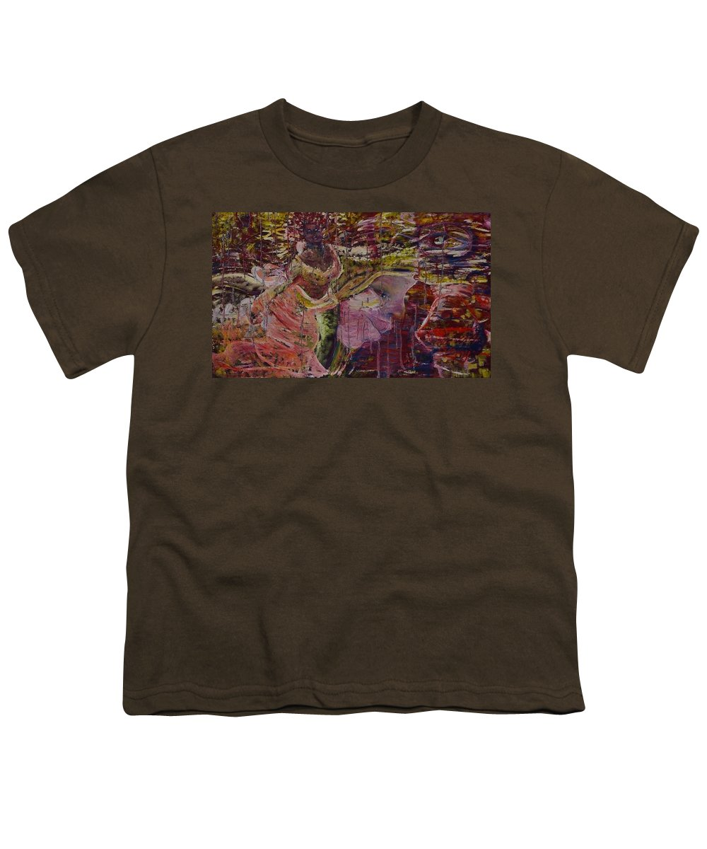 Portrait Youth T-Shirt featuring the painting April 29th. by Peggy Blood