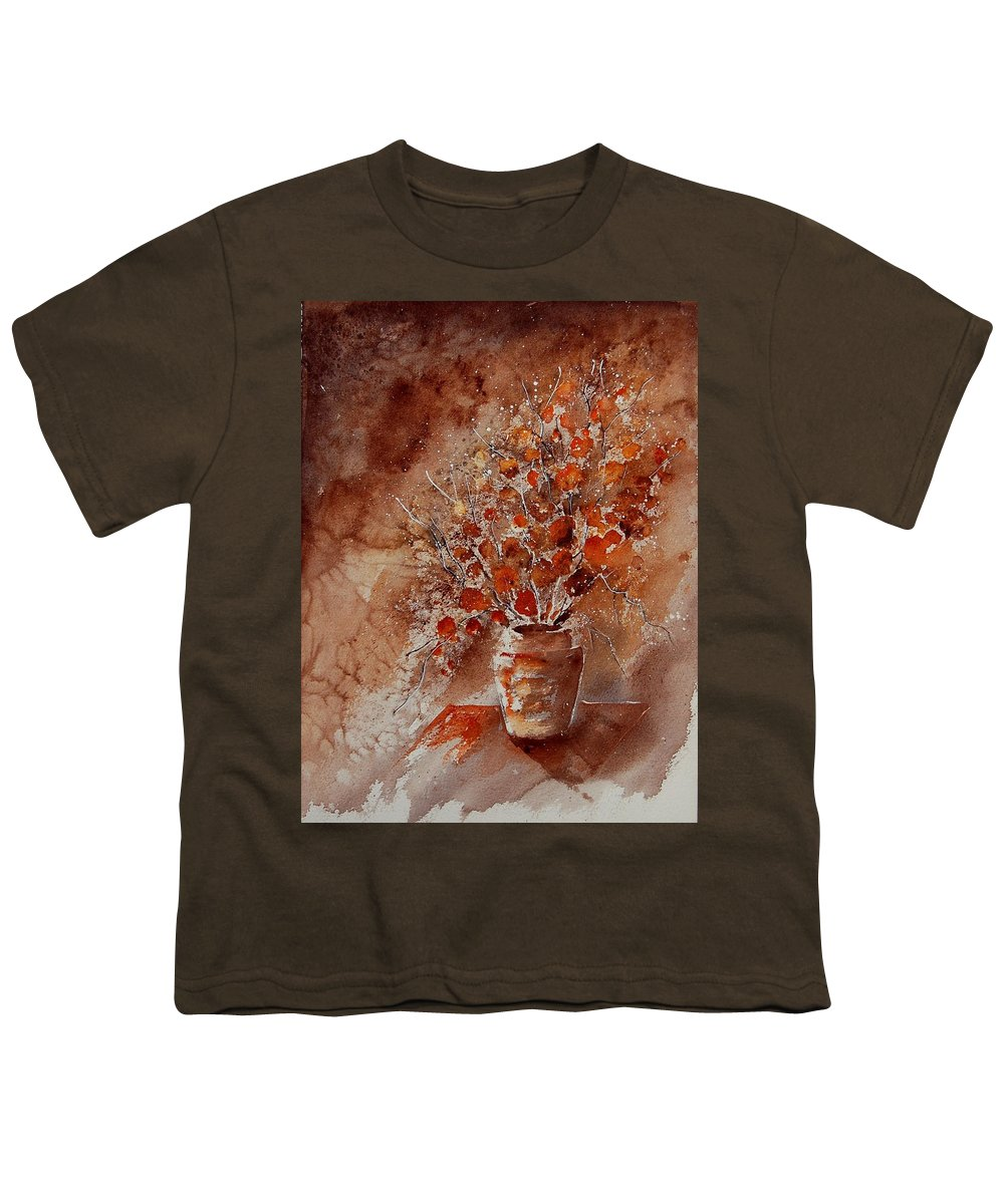 Flowers Youth T-Shirt featuring the painting Aqua 070108 by Pol Ledent