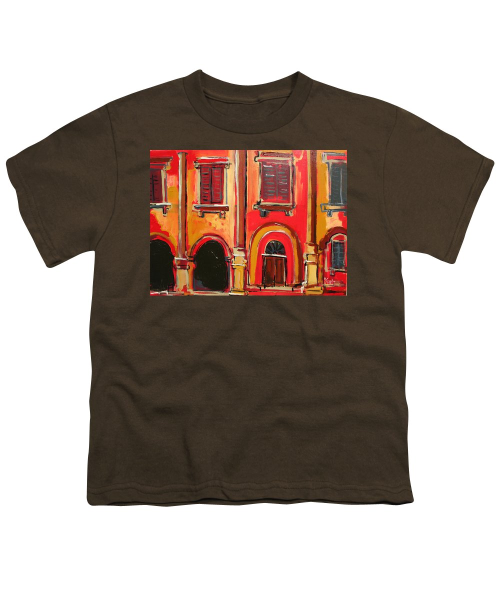 Tuscany Youth T-Shirt featuring the painting Arco Di Firenze by Kurt Hausmann