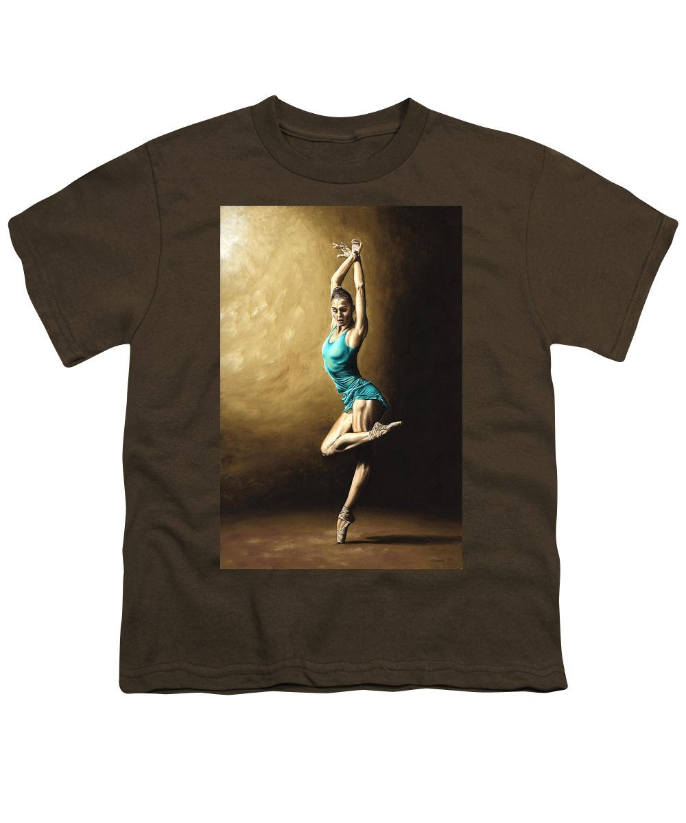 Dance Youth T-Shirt featuring the painting Ardent Dancer by Richard Young