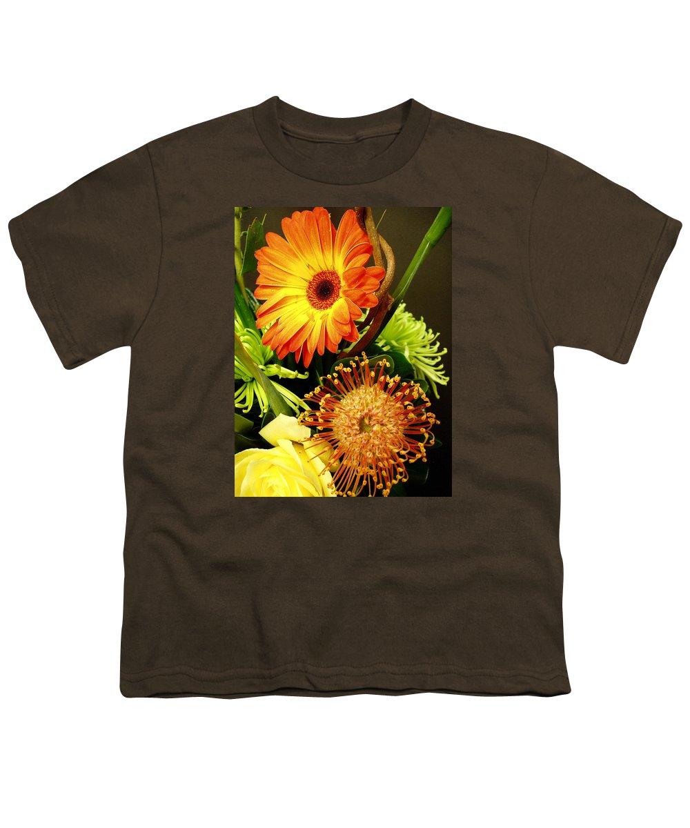 Autumn Youth T-Shirt featuring the photograph Autumn Flower Arrangement by Nancy Mueller