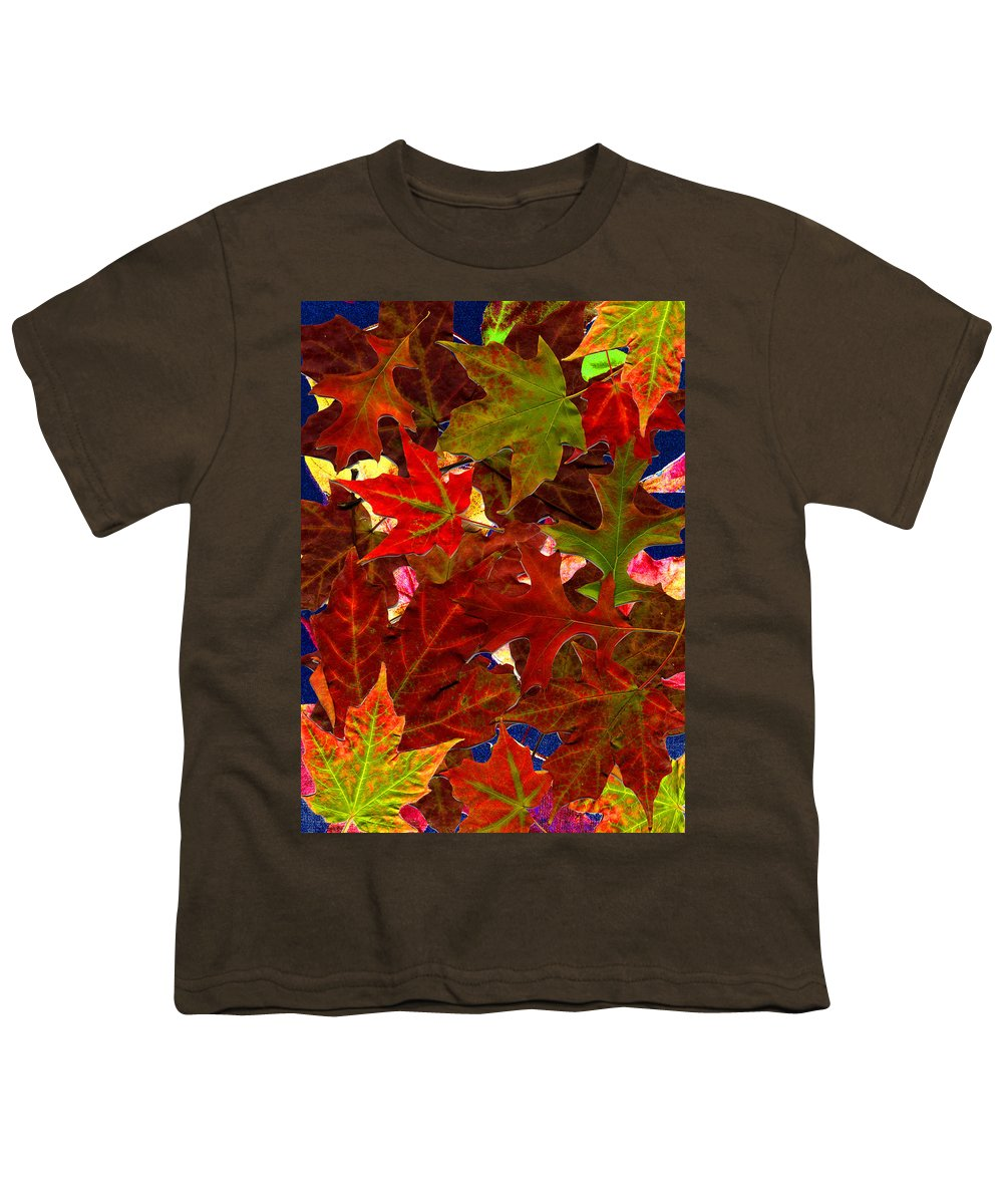 Collage Youth T-Shirt featuring the photograph Autumn Leaves by Nancy Mueller