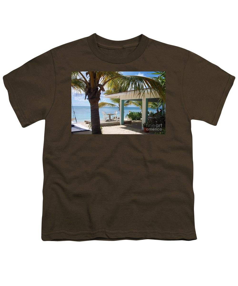 Beach Youth T-Shirt featuring the photograph Beach In Grand Turk by Debbi Granruth