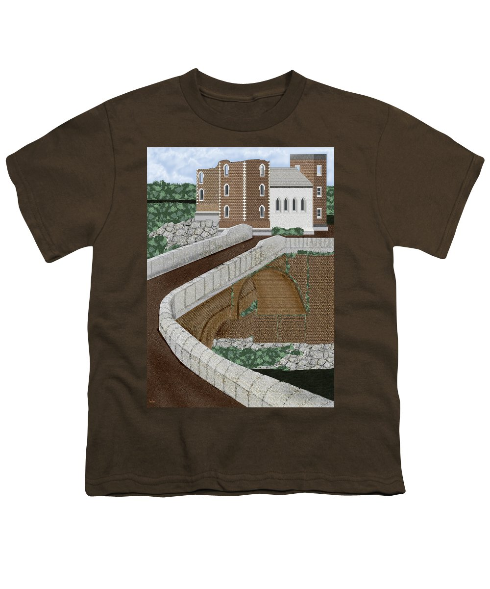 Castle Ruins Youth T-Shirt featuring the painting Beloved Ruins by Anne Norskog