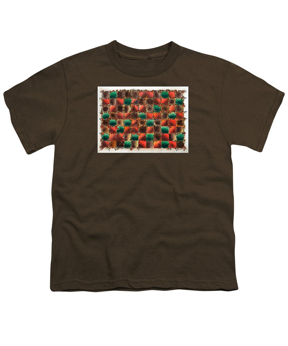 Abstract Youth T-Shirt featuring the painting Black Forest Cake by Dave Martsolf