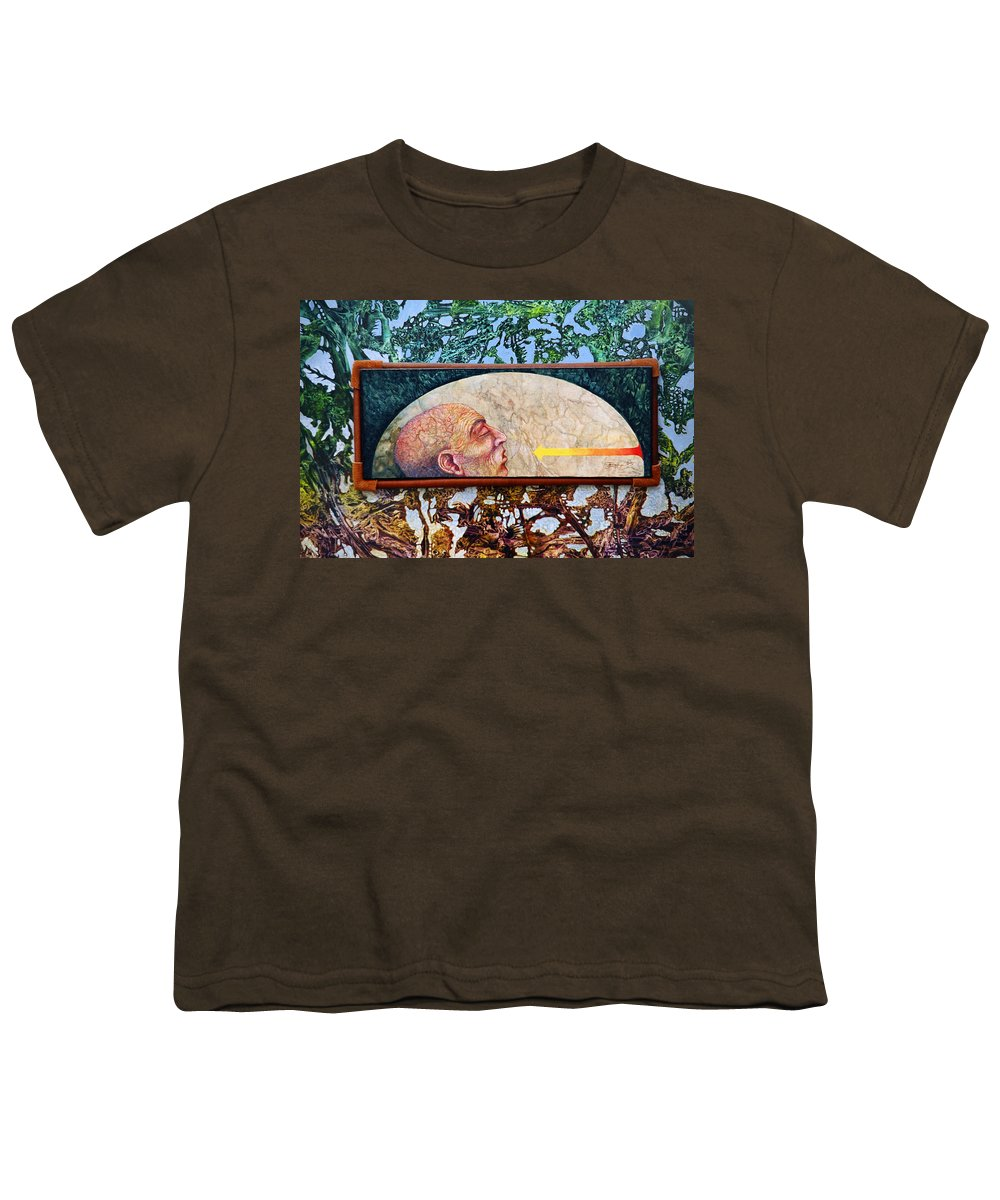 Surrealism Fantasy Fantastic Realism Decalcomania Otto Rapp The Mystic Youth T-Shirt featuring the painting Bogomil Rising by Otto Rapp