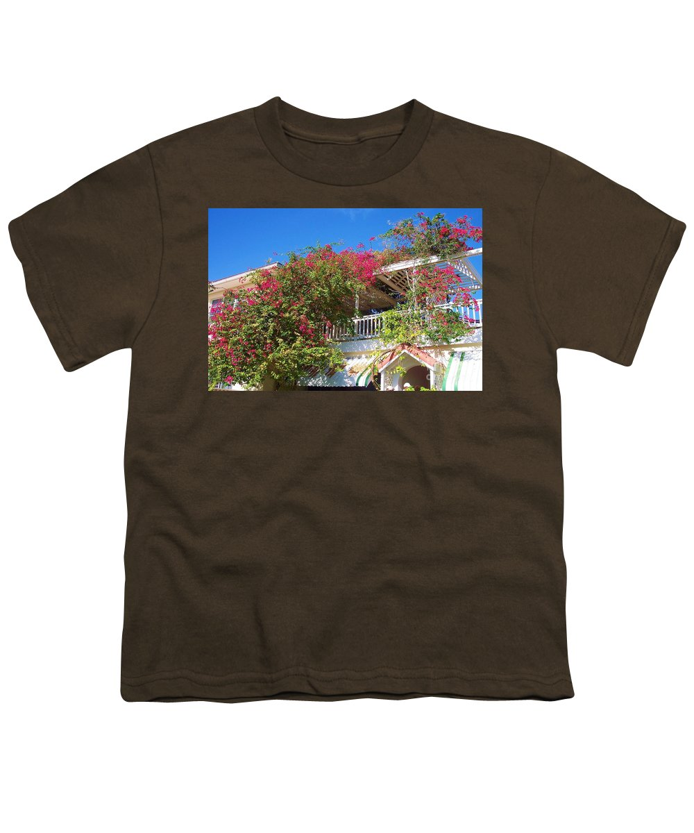 Flowers Youth T-Shirt featuring the photograph Bougainvillea Villa by Debbi Granruth