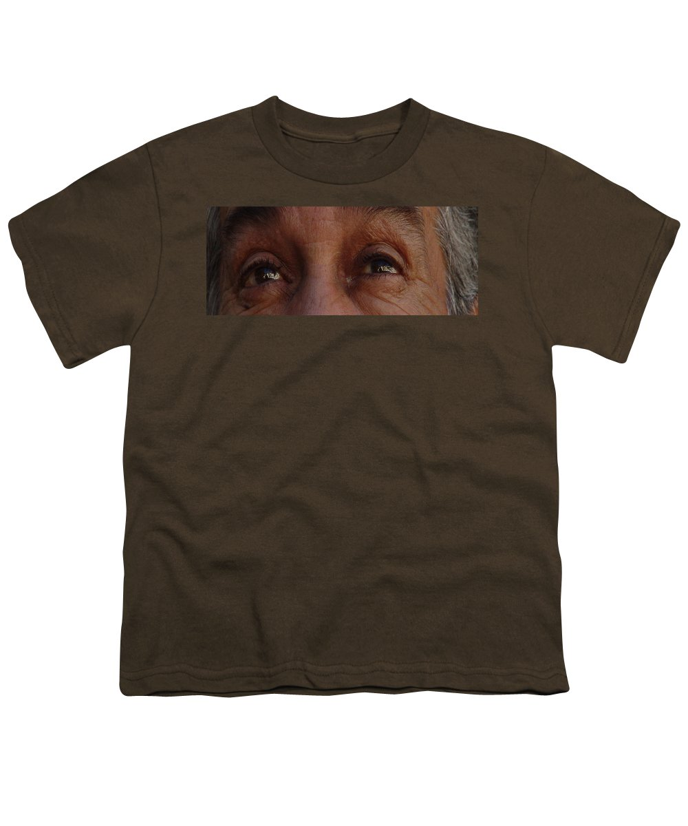 Eyes Youth T-Shirt featuring the photograph Burned Eyes by Peter Piatt