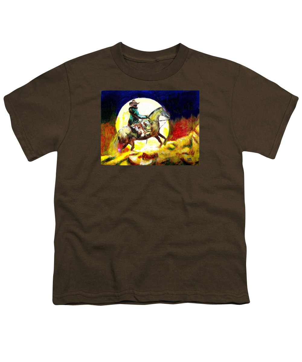 Canyon Moon Youth T-Shirt featuring the painting Canyon Moon by Seth Weaver