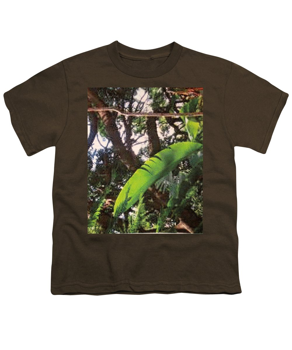 Caribbean Youth T-Shirt featuring the photograph Caribbean Banana Leaf by Ian MacDonald