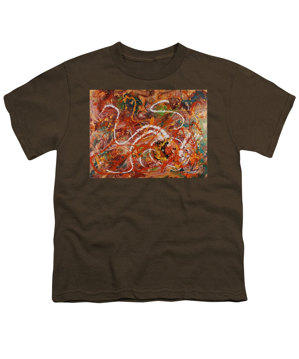 Orange Youth T-Shirt featuring the painting Celebration II by Nadine Rippelmeyer