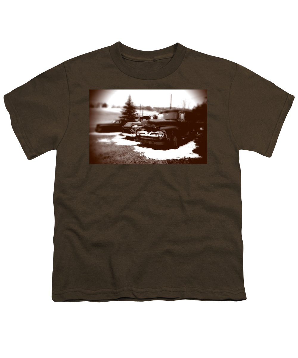 Old Cars Youth T-Shirt featuring the photograph Chocolate Ghosts by Jean Macaluso