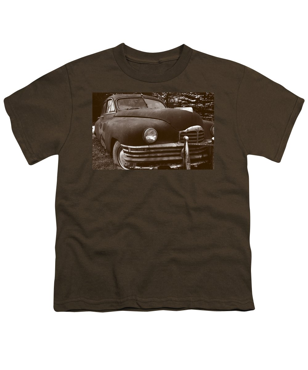 Old Car Youth T-Shirt featuring the photograph Chocolate Moose by Jean Macaluso