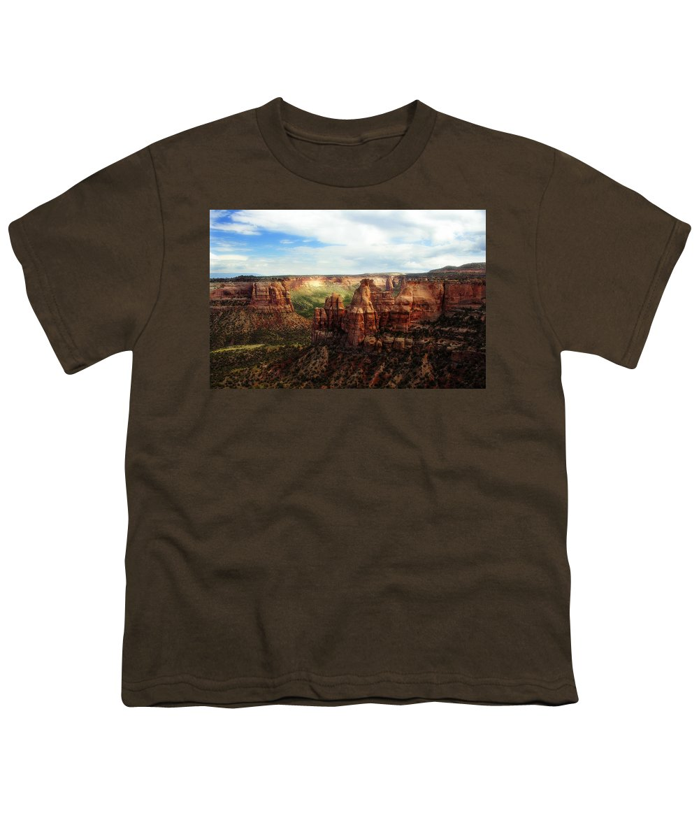 Americana Youth T-Shirt featuring the photograph Colorado National Monument by Marilyn Hunt