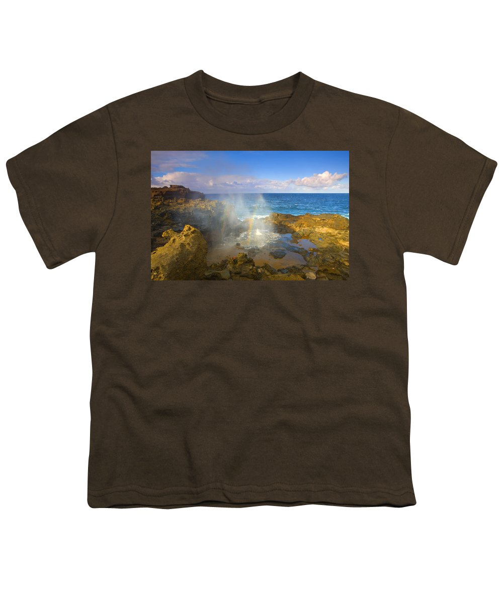 Blowhole Youth T-Shirt featuring the photograph Creating Miracles by Mike Dawson