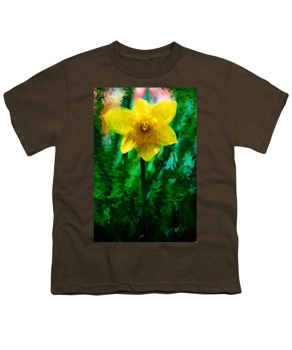 Abstract Youth T-Shirt featuring the photograph Daffy Dill by David Lane