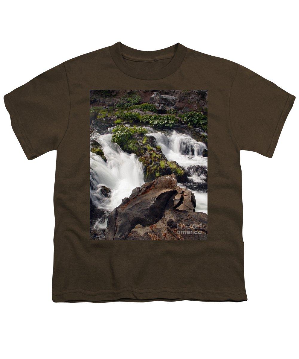 Creek Youth T-Shirt featuring the photograph Deer Creek 12 by Peter Piatt