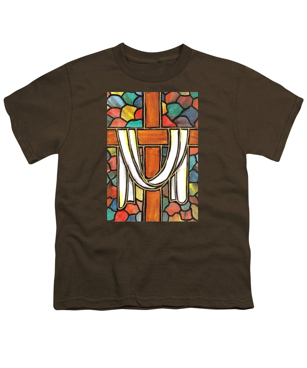 Easter Youth T-Shirt featuring the painting Easter Cross 6 by Jim Harris