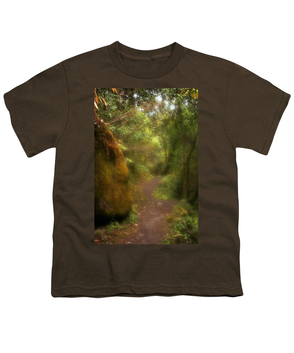 Path Youth T-Shirt featuring the photograph El Camino by Patrick Klauss
