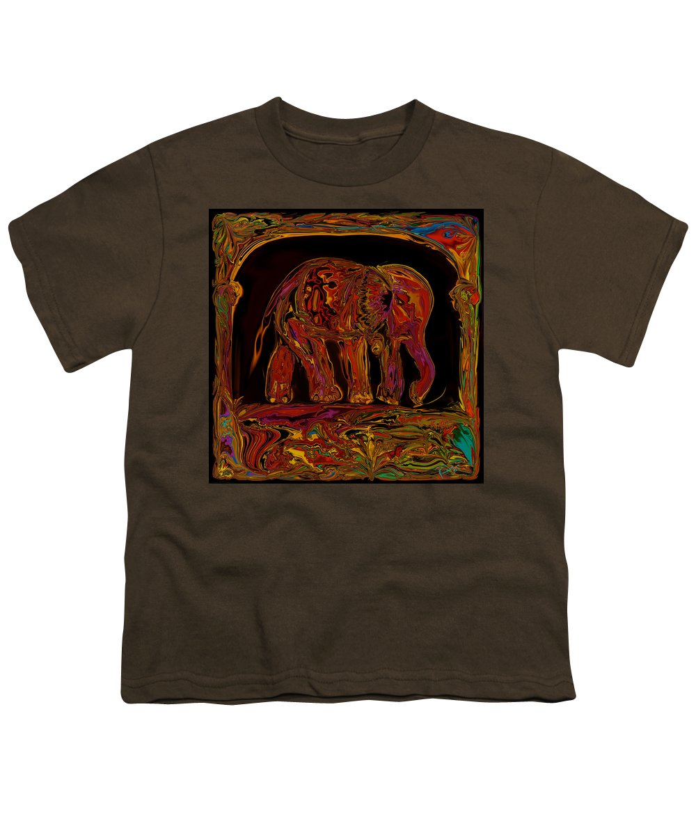 Animal Youth T-Shirt featuring the digital art Elephant by Rabi Khan