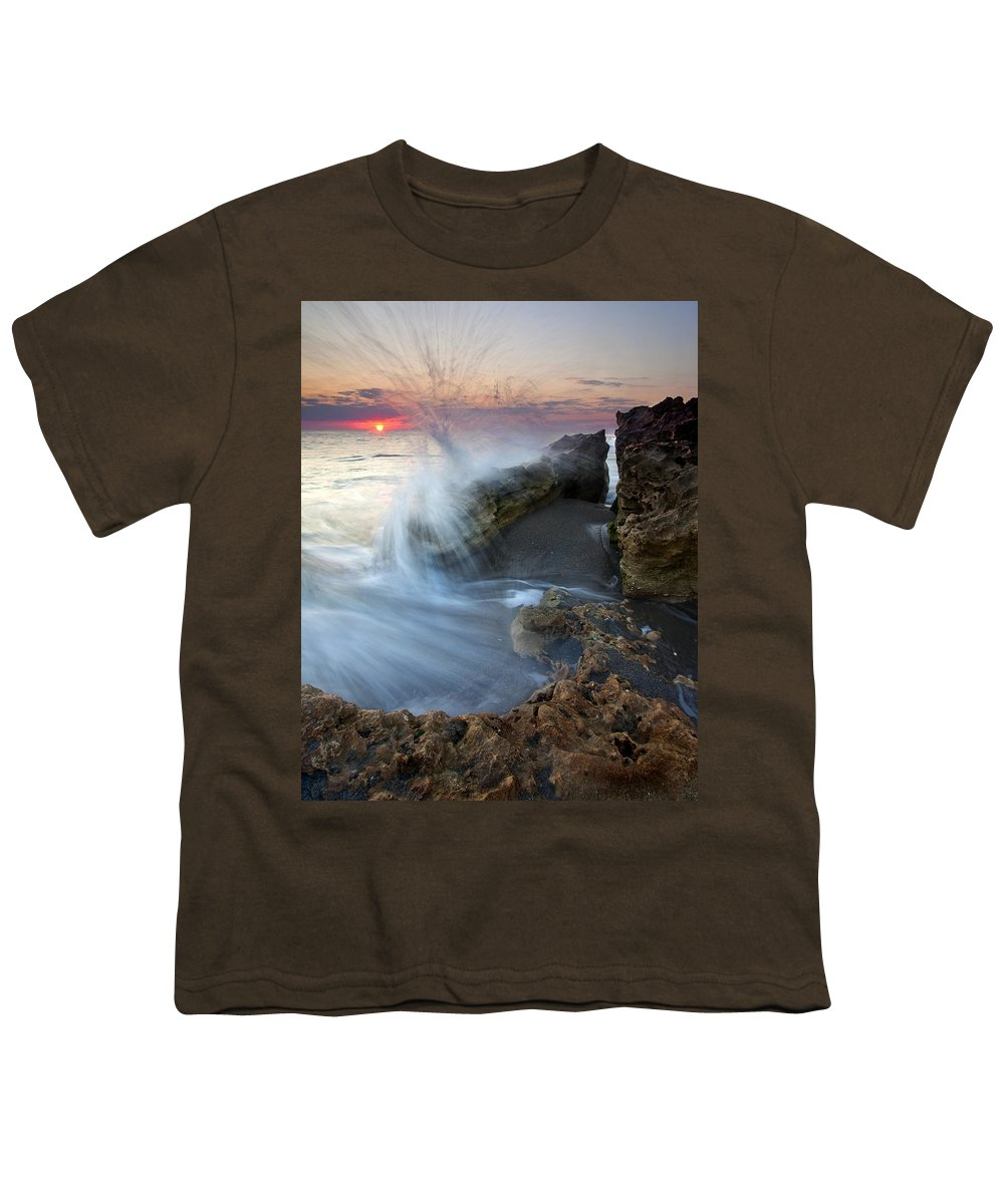 Blowing Rocks Youth T-Shirt featuring the photograph Eruption At Dawn by Mike Dawson