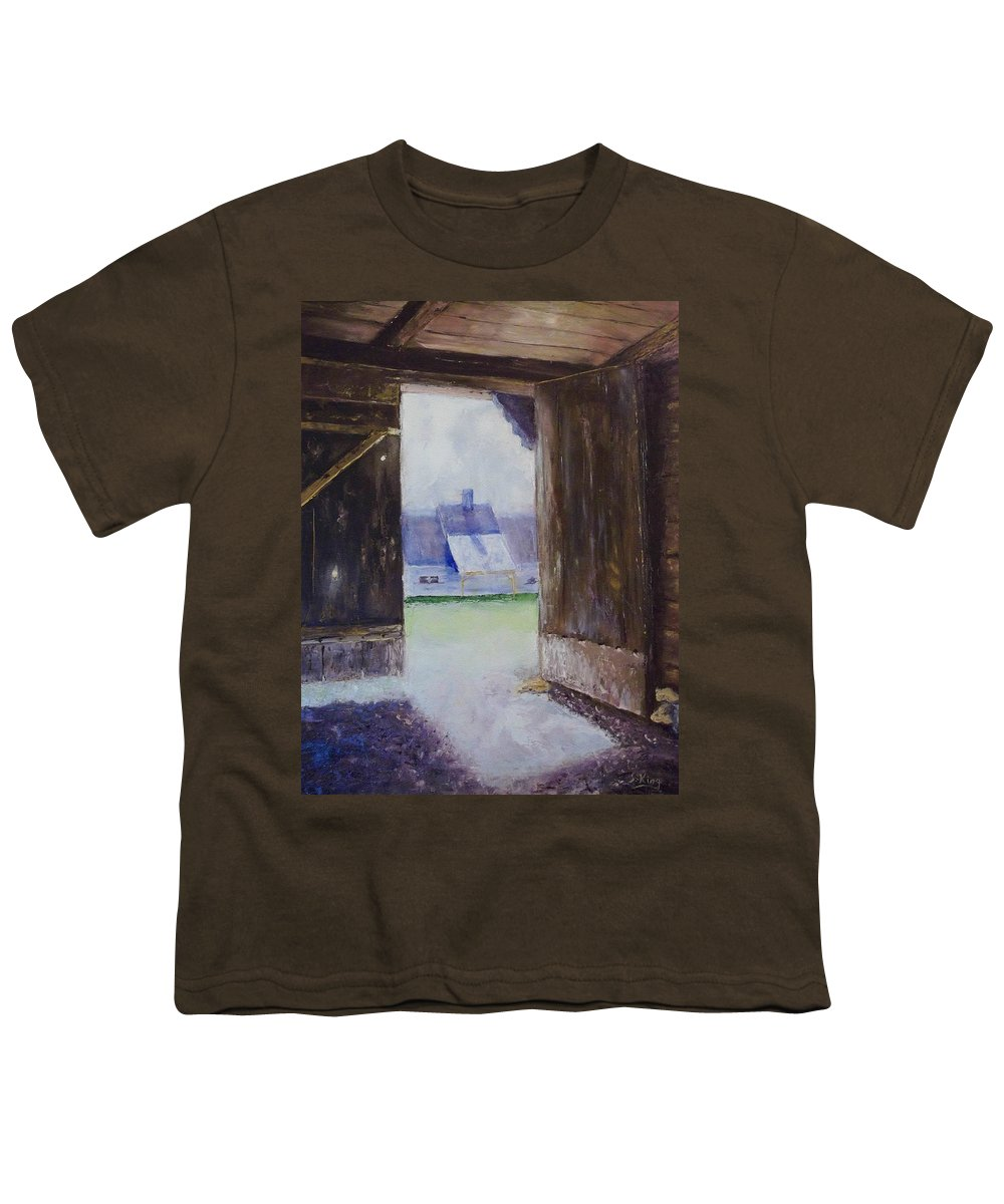 Shed Youth T-Shirt featuring the painting Escape The Sun by Stephen King