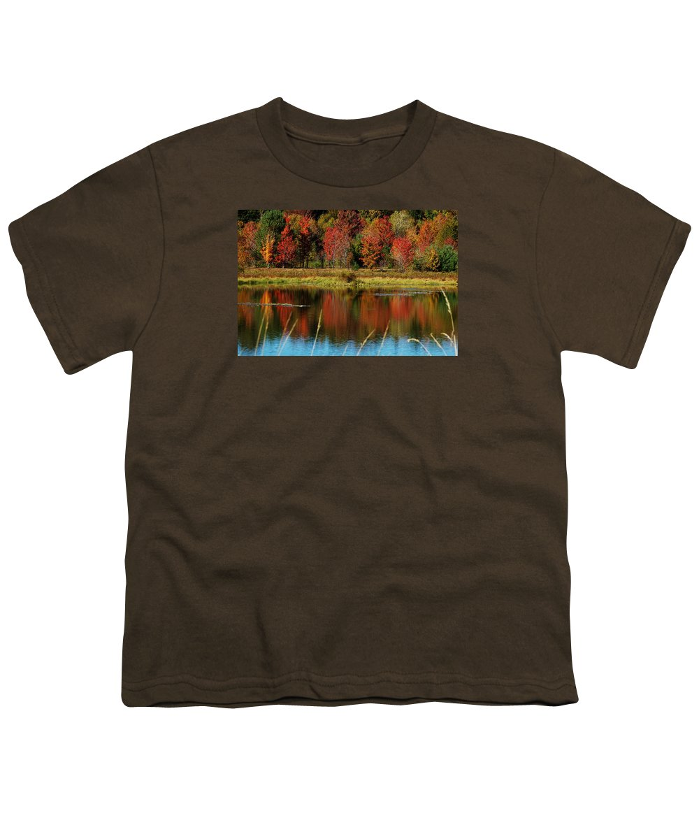 Autumn Youth T-Shirt featuring the photograph Fall Splendor by Linda Murphy