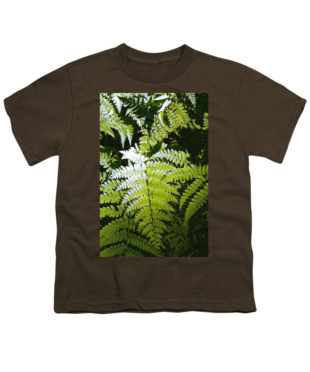Ferns Youth T-Shirt featuring the photograph Ferns by Nelson Strong