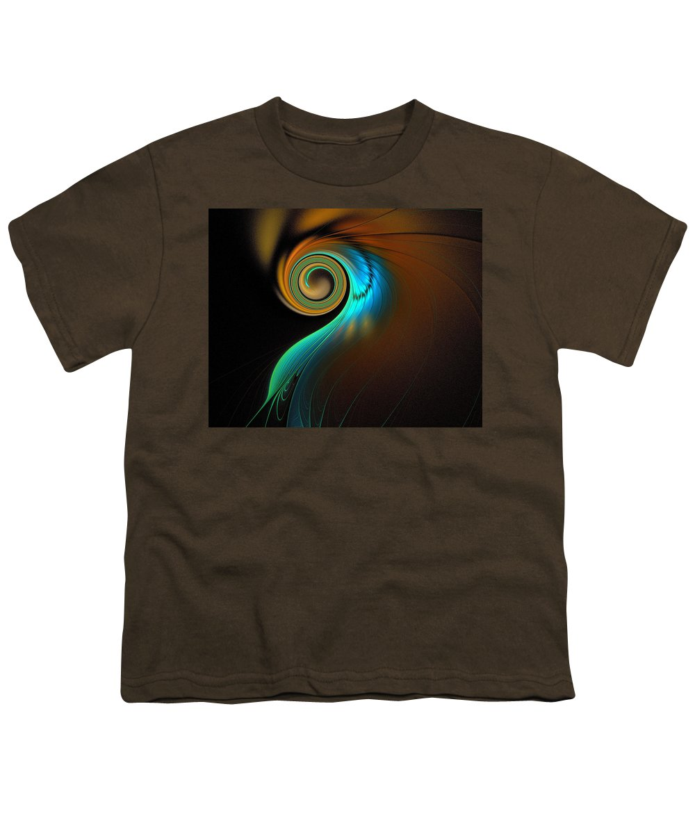 Digital Art Youth T-Shirt featuring the digital art Fine Feathers by Amanda Moore