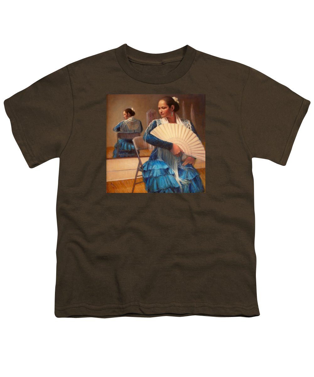 Realism Youth T-Shirt featuring the painting Flamenco 1 by Donelli DiMaria