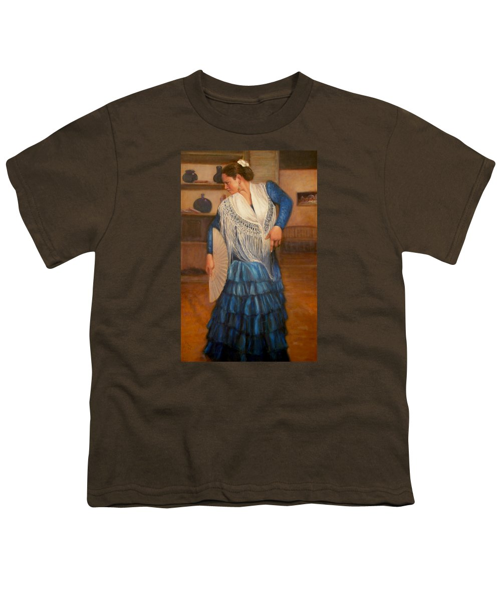 Realism Youth T-Shirt featuring the painting Flamenco 2 by Donelli DiMaria