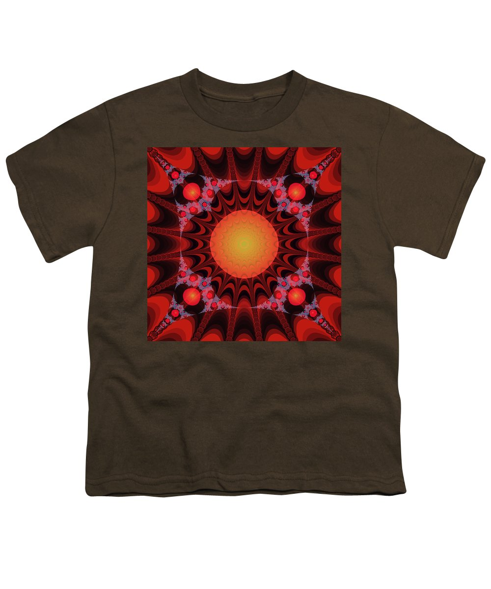 Fractal Youth T-Shirt featuring the digital art Flaming Sol by Frederic Durville