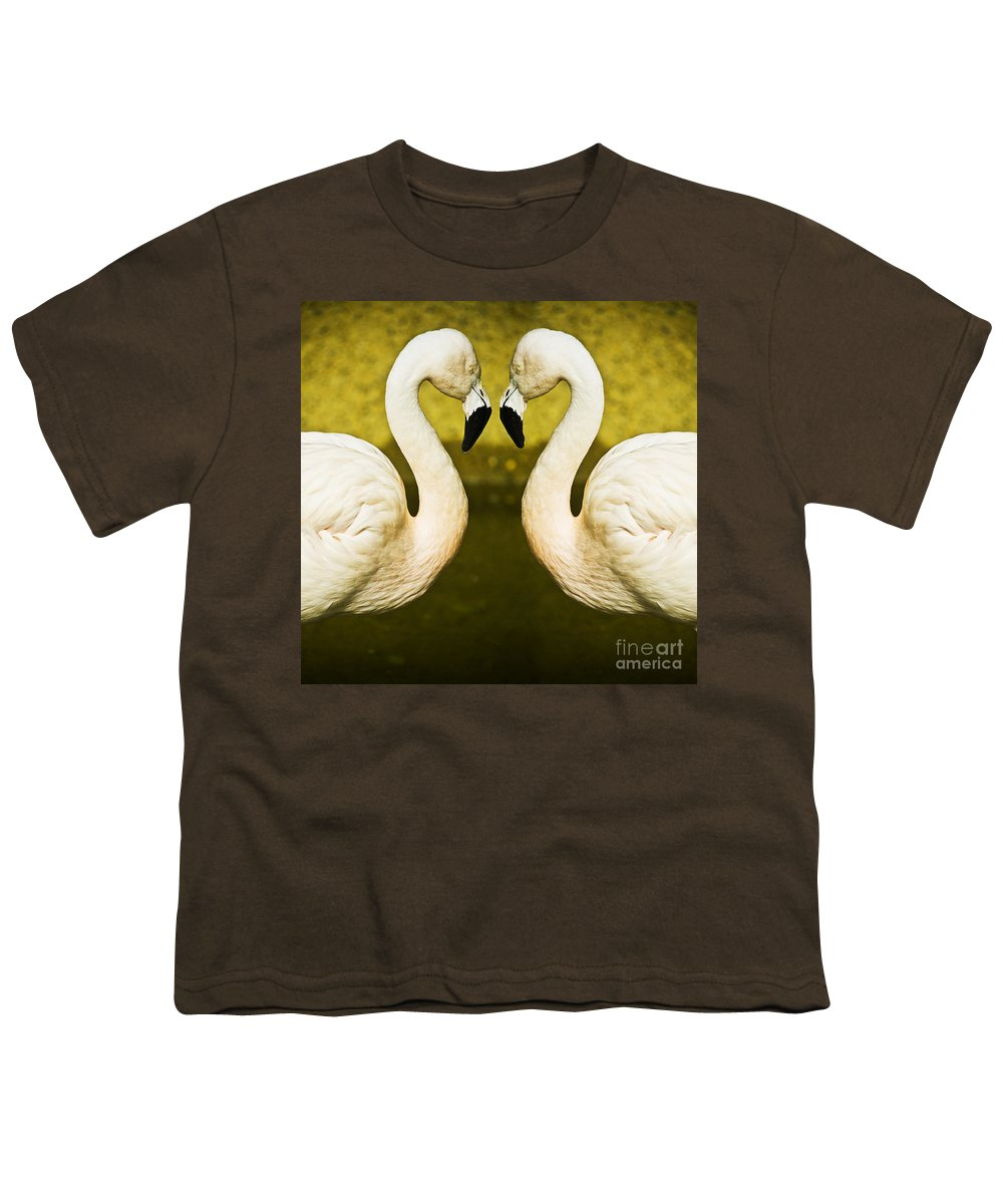 Flamingo Youth T-Shirt featuring the photograph Flamingo Reflection by Sheila Smart Fine Art Photography