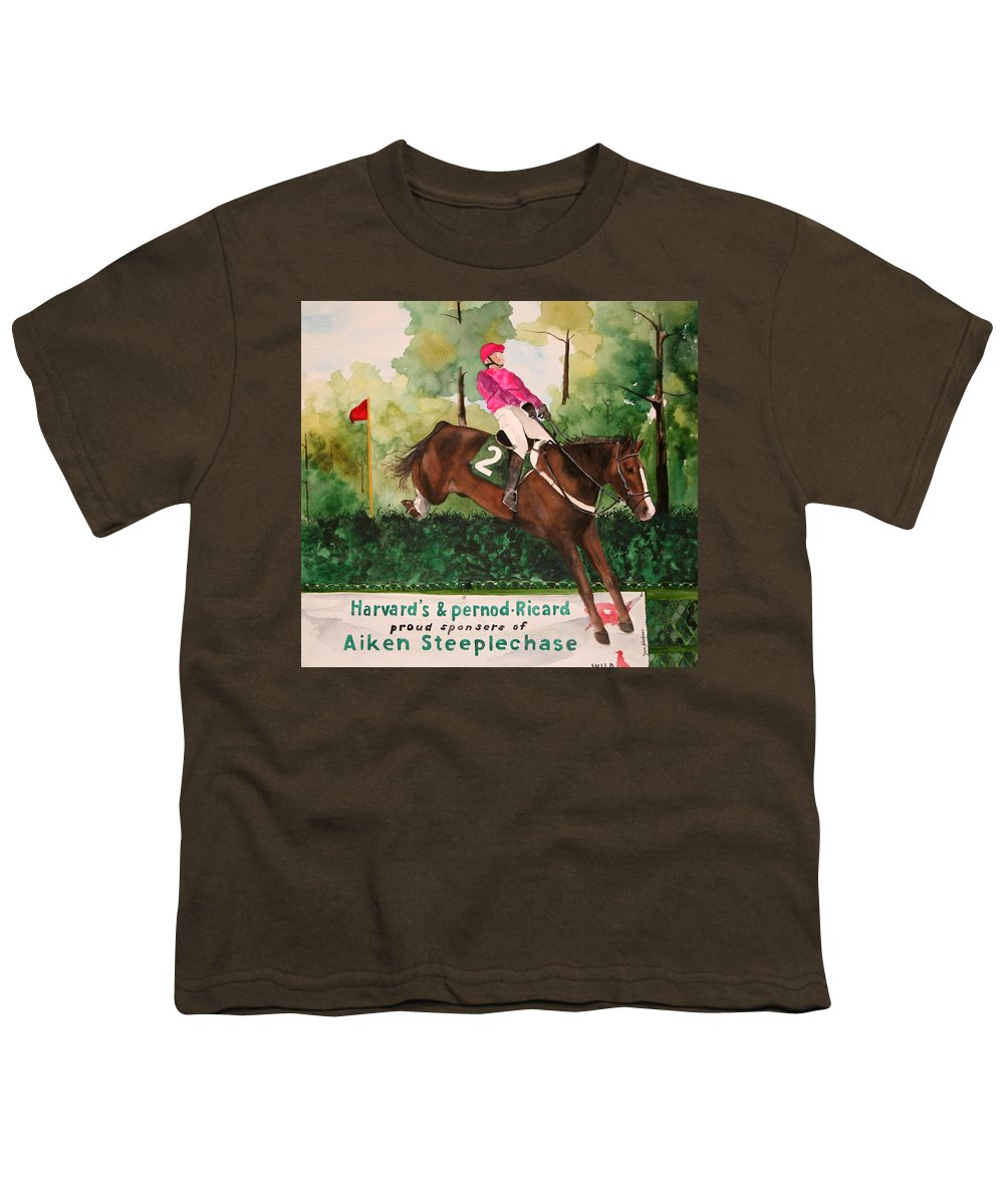 Horse Youth T-Shirt featuring the painting Flying High by Jean Blackmer