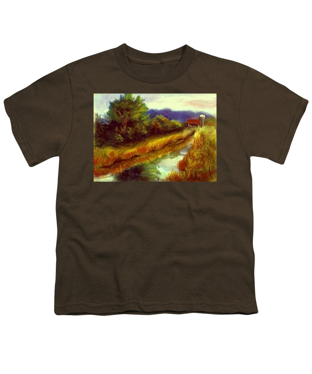 Landscape Youth T-Shirt featuring the painting For A Thirsty Land by Gail Kirtz