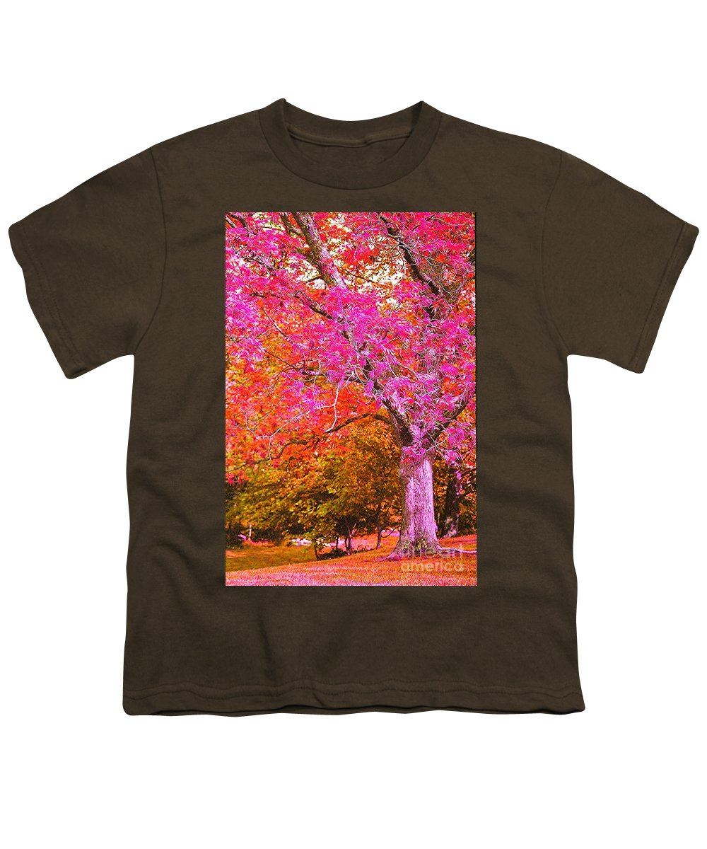 Fuschia Youth T-Shirt featuring the photograph Fuschia Tree by Nadine Rippelmeyer