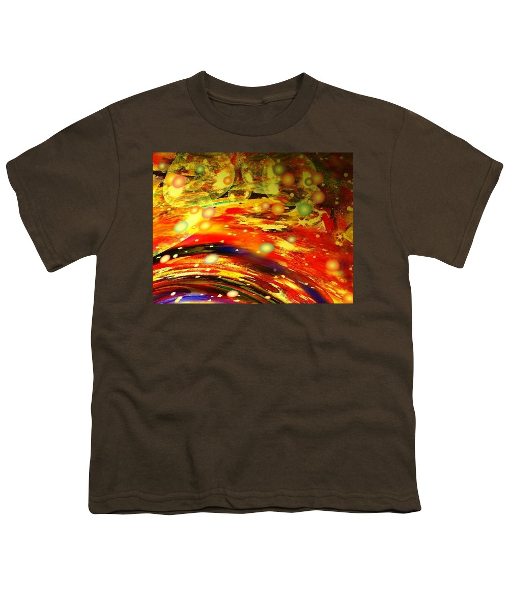 Galaxy Youth T-Shirt featuring the digital art Galaxy by Natalie Holland
