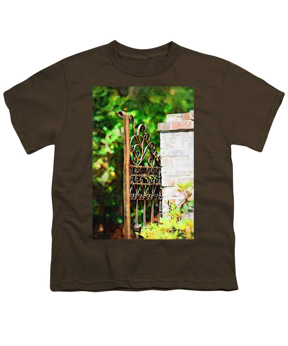 Gardens Youth T-Shirt featuring the photograph Garden Gate by Donna Bentley