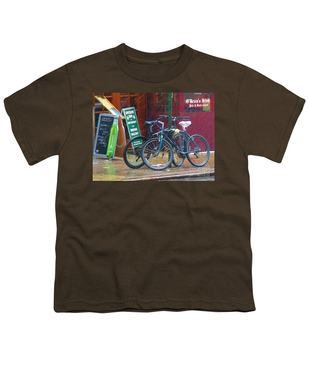 Bike Youth T-Shirt featuring the photograph Give Me Shelter by Debbi Granruth
