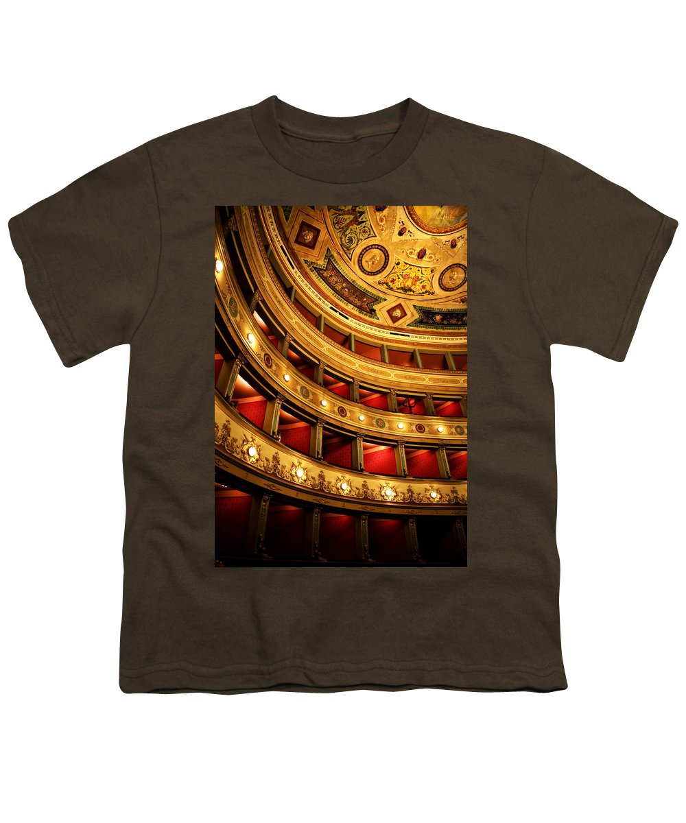 Theatre Youth T-Shirt featuring the photograph Glorious Old Theatre by Marilyn Hunt